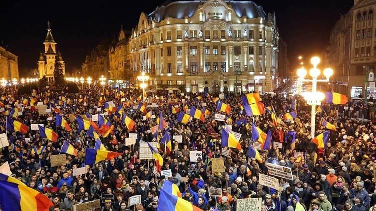 Romaniassa laajat mielenosoitukset jatkuvat edelleen