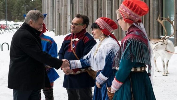 Presidentin vierailu kruunasi saamelaisten kansallispäivän juhlan