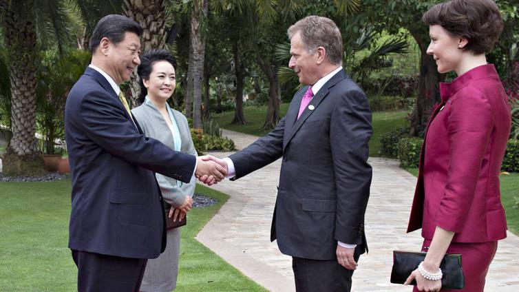 Suomea kadehditaan Kiinan presidentin vierailusta