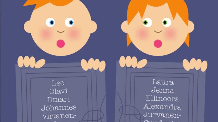 Tulevaisuudessa lapselle voi antaa jopa neljä etunimeä
