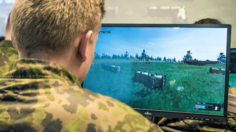 Armeijassa harjoitellaan sodankäyntiä tietokonepelin avulla