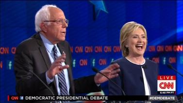 Hillary Clinton sai vastustajaltaan tukea demokraattien vaaliväittelyssä Yhdysvalloissa