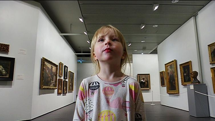 6-vuotias Eevi on kova Gallen-Kallela-fani
