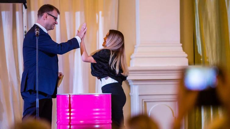 Katariina Räikkönen, 16, vietti päivän pääministerin työparina