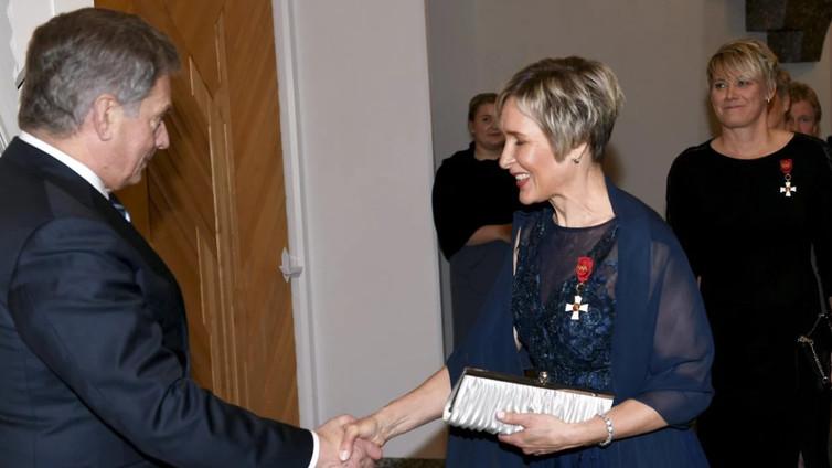Olympiavoittajat saivat kunniamerkit presidentti Niinistöltä