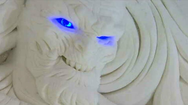 Valkoinen kulkija vartioi hotellivieraan unta Lapissa