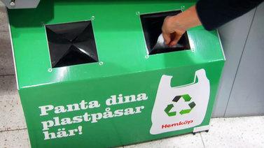 Ruotsalainen ruokaketju maksaa muovipussista pantin