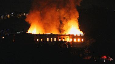 Tuli tuhosi Brasilian kansallismuseon