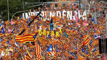 Jopa miljoona ihmistä marssi Barcelonassa Katalonian itsenäisyyden puolesta