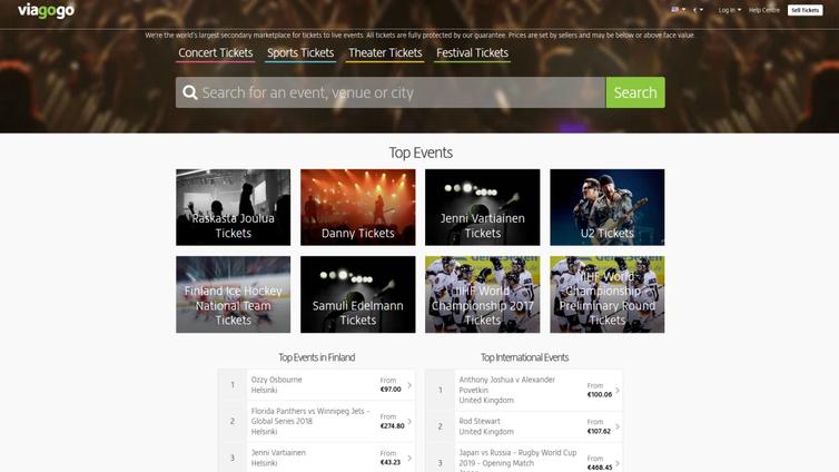 Viagogo-lipunmyyntisivusto on perinyt konserttilipuista roimaa ylihintaa