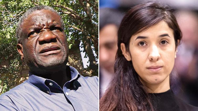 Nobelin rauhanpalkinto sotien seksuaalista väkivaltaa vastustaville lääkäri Denis Mukwegelle ja aktivisti Nadia Muradille