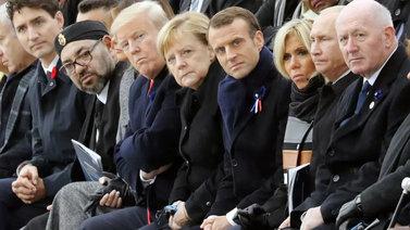 Saksan ja Ranskan johtajat varoittivat nationalismin noususta maailmansodan muistoseremoniassa