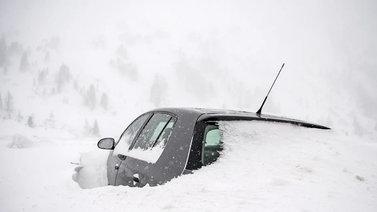 Keski-Eurooppa peittyi paksuun lumikerrokseen