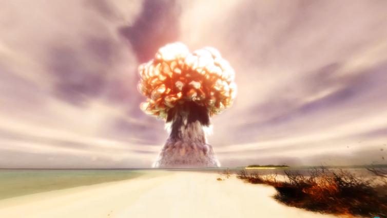 Katso maailman ensimmäisen vetypommin räjähdys paratiisirannalla