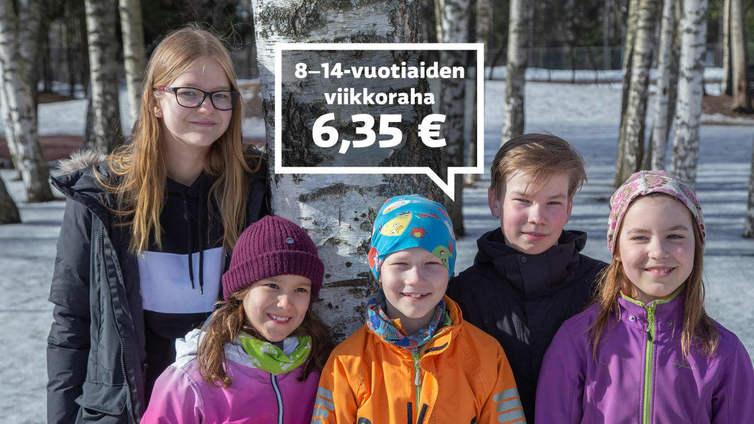 Kaksi kolmesta lapsesta saa viikkorahaa