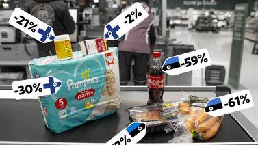 Katso mitkä tuotteet ovat halvempia Suomessa kuin Virossa