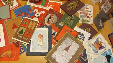 Kuopiossa on esillä laaja joulukorttinäyttely