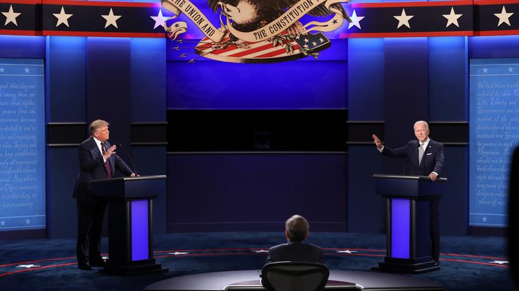 Trump ja Biden ottivat kiivaasti yhteen ensimmäisessä väittelyssään