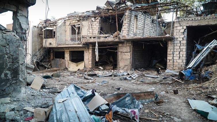 Taistelut jättävät jälkensä kiistellylle Vuoristo-Karabahin alueelle