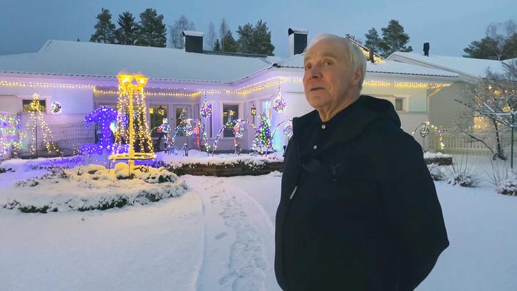 Kalle Penttilän jouluvalot tuovat iloa naapurustolle