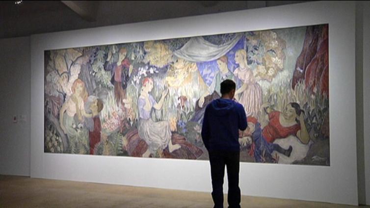 Paljon muutakin kuin muumeja - Tove Jansson teki freskoja sodasta toipuville helsinkiläisille