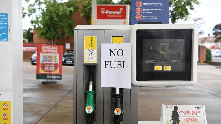 Britanniassa kärsitään pahasta polttoainepulasta
