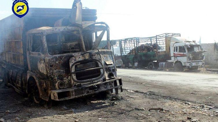 Ilmaisku keskeytti avustuskuljetukset Syyriassa
