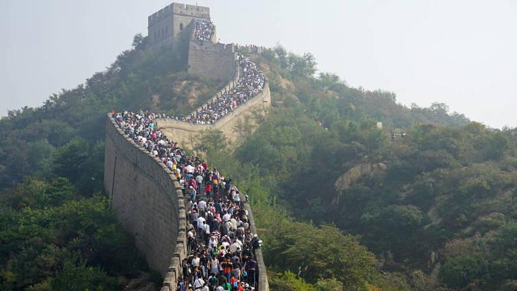 Kiinan muurilla on ruuhkaa