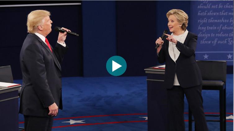 Trumpin ja Clintonin toinen vaaliväittely oli tasapeli