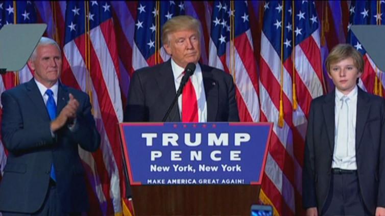 Donald Trump on Yhdysvaltain uusi presidentti